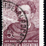 ������, ������: Postage stamp Argentina 1942 Jose Manuel Estrada