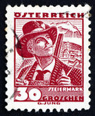 Postage stamp Austria 1934 Man from Styria — Stock Photo
