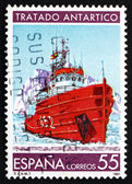 Postage stamp Spain 1991 Research Ship, Antarctic Treaty — Stock Photo