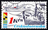 Postage stamp Czechoslovakia 1989 Ship Pionyr, Shipping Industry — Stock Photo