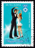 Postage stamp Hungary 1983 Ice Dancers — Stock Photo