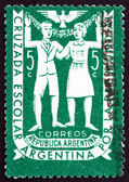 Postage stamp Argentina 1947 School Children — Stock Photo