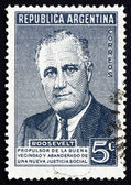 Postage stamp Argentina 1946 Franklin Delano Roosevelt — Stock Photo