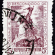 Postage stamp Argentina 1946 Monument to Army of the Andes, Mend — Stock Photo