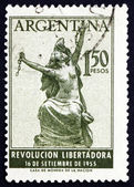Postage stamp Argentina 1955 Argentina Breaking Chains, Allegory — Stock Photo