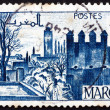 Stock Photo: Postage stamp French Morocco 1947 Gardens of Fez