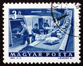Postage stamp Hungary 1964 P.O. Parcel Conveyor — Stock Photo