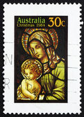 Postage stamp Australia 1984 Veiled Virgin and Child ,Christmas — Stock Photo