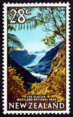 Postage stamp New Zealand 1968 Fox Glacier, Westland National Pa — Stock Photo