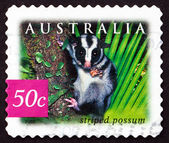 Postage stamp Australia 2003 Striped Possum, Marsupial animal — Stock Photo