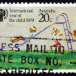 Postage stamp Australia 1979 Children Playing - Stock fotografie