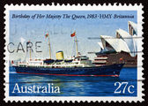 Postage stamp Australia 1983 Britannia, Her Mayesty Yacht — Stock Photo