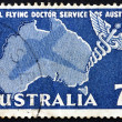 Stock Photo: Postage stamp Australi1957 Caduceus and Map of Australia