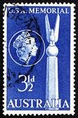 フレーム切手オーストラリア 1955年トップ私たちの記念物、キャンベラ — ストック写真
