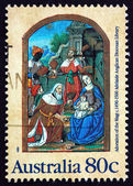 Postage stamp Australia 1989 Adoration of the Magi — Stock Photo