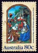 Postage stamp Australia 1989 Adoration of the Magi — Stock Photo