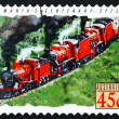 Stock Photo: Postage stamp Australi1993 Centenary Special, Tasmania, Train