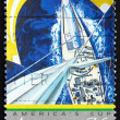 Postage stamp Australia 1987 America&#039;s Cup - Stock Photo