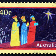 Postage stamp Australi1998 Magi and Star, Christmas — Stock Photo #21442357