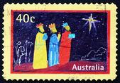 Postage stamp Australia 1998 Magi and Star, Christmas — Stock Photo