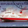 Postage stamp Croatia 1998 Passenger Ship, Amorella — Stock Photo