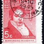 Постер, плакат: Postage stamp Argentina 1945 Bernardino Rivadavia President
