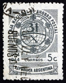 Postage stamp Argentina 1944 Allegory of Savings — Stock Photo