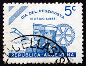Postage stamp Argentina 1944 Day of the Reservists — Stock Photo