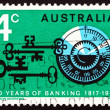 Postage stamp Australia 1967 Combination Lock and Antique Keys - Stock Photo