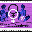 Postage stamp Australia 1967 Seated Women, Female Symbol — Stock Photo