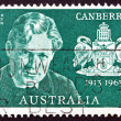 Stock Photo: Postage stamp Australi1963 Walter Burley Griffin, AmericArc