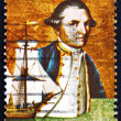 Postage stamp Australia 1970 Captain James Cook and Endeavour — Stock Photo
