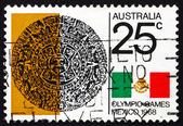 Postage stamp Australia 1968 Aztec Calendar Stone — Stock Photo