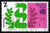 Postage stamp Australia 1973 Stylized Caduceus and Laurel — Stock Photo
