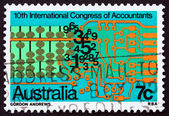 Postage stamp Australia 1972 Abacus, Numerals and Computer Circu — Stock Photo