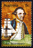 Postage stamp Australia 1970 Captain James Cook and Endeavour — Stock Photo