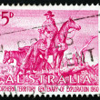Stock Photo: Postage stamp Australi1960 Overlanders
