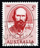 Postzegel australië 1962 john mcdouall stuart — Stockfoto