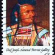 Postage stamp USA 1968 Chief Joseph, Portrait — Stock Photo