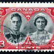 Postage stamp Canad1939 King George VI and Queen Elizabeth — Stock Photo #21671395