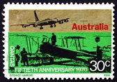 Postage stamp Australia 1970 Sunbeam Dyak Powered Awro 504 — Stock Photo