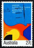 Postage stamp Australia 1983 Abstract Painting — Stock Photo
