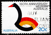 Postage stamp Australia 1979 Black Swan, Western Australia — Stock Photo