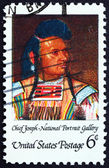 Postage stamp USA 1968 Chief Joseph, Portrait — Stock Photo