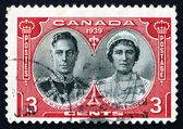Postage stamp Canada 1939 King George VI and Queen Elizabeth — Stock Photo
