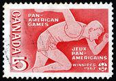 Francobollo corridore del canada 1967, giochi panamericani — Foto Stock