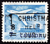 Briefmarke kanada 1964 jet am flughafen ottawa — Stockfoto