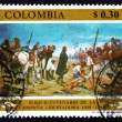 Stock Photo: Postage stamp Colombi1969 Army of Liberation Crossing PisbPa