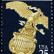 Postage stamp USA 1989 Eagle and Shield, Symbol — Stock Photo