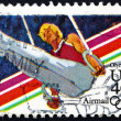 Stock Photo: Postage stamp US1983 Gymnast, 1984 Olympics, Los Angeles